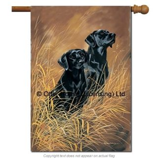 Black Lab Flag - Pickering II (Large)