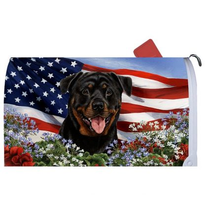 Rottweiler Mail Box Cover - USA