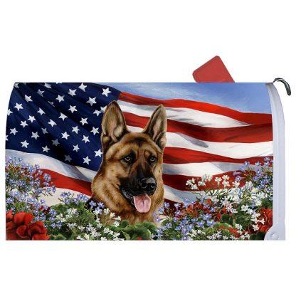 German Shepherd Mail Box Cover - USA