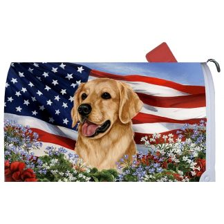 Golden Retriever Mail Box Cover - USA