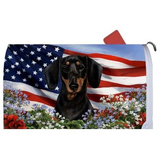 Dachshund Mail Box Cover - USA (Black Tan)