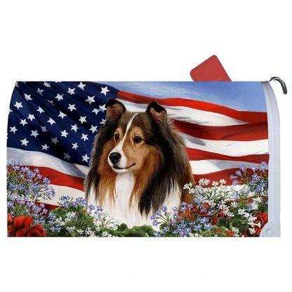 Shetland Sheepdog Mail Box Cover - USA