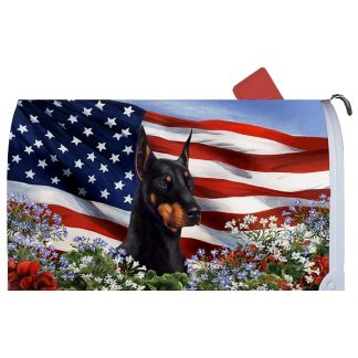 Doberman Pinscher Mail Box Cover - USA