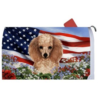 Apricot Poodle Mail Box Cover - USA