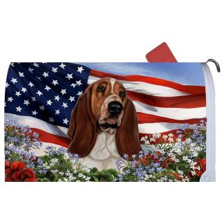 Basset Hound Mail Box Cover - USA