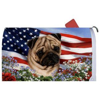 Pug Mail Box Cover - USA