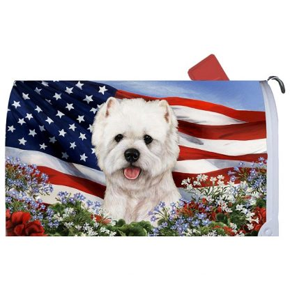 West Highland Terrier Mail Box Cover - USA