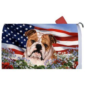 Bulldog Mail Box Cover - USA
