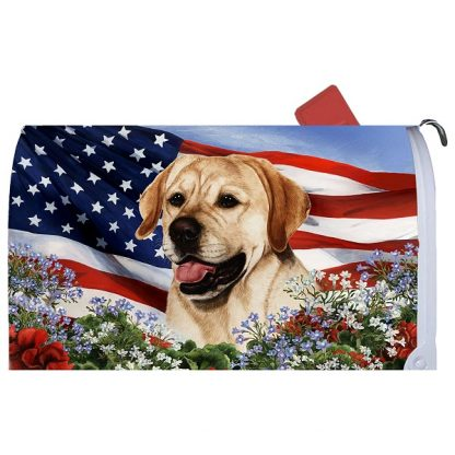 Yellow Lab Mail Box Cover - USA