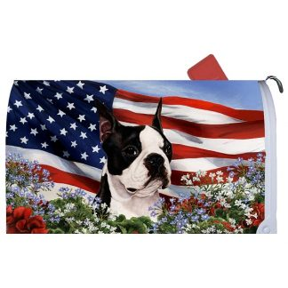 Boston Terrier Mail Box Cover - USA