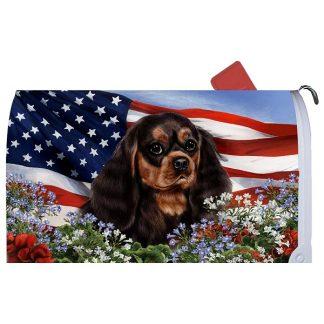 Black & Tan Cavalier Spaniel Mail Box Cover - USA