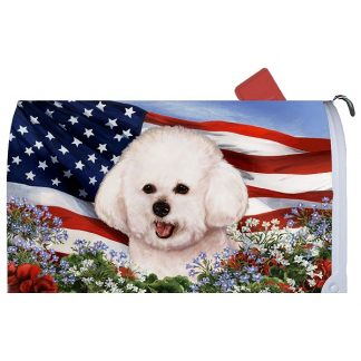 Bichon Frise Mail Box Cover - USA