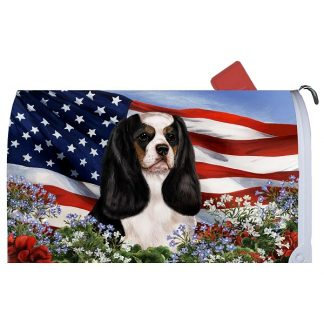 Tri Cavalier Spaniel Mail Box Cover - USA