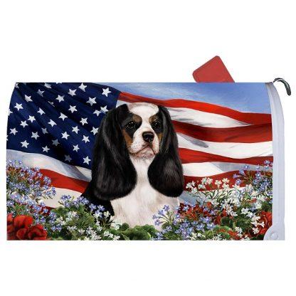 Tri Cavalier Spaniel Mail Box Cover - USA
