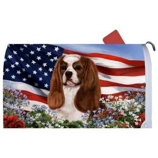 Cavalier Spaniel Mail Box Cover - USA