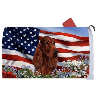 Irish Setter Mail Box Cover - USA (Red)
