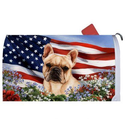 French Bulldog Mail Box Cover - USA (Cream)