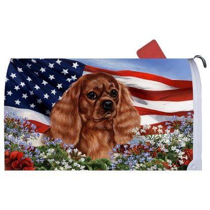 Ruby Cavalier Spaniel Mail Box Cover - USA