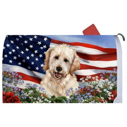 Goldendoodle Mail Box Cover (White) - USA