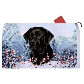 Black Lab Mail Box Cover - Winter Berries