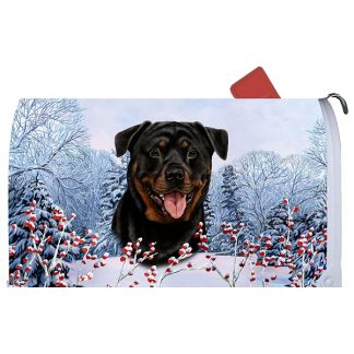 Rottweiler Mail Box Cover - Winter Berries