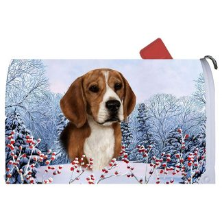 Beagle Mail Box Cover - Winter Berries