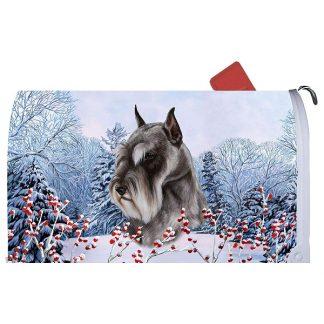 Schnauzer Mail Box Cover - Winter Berries