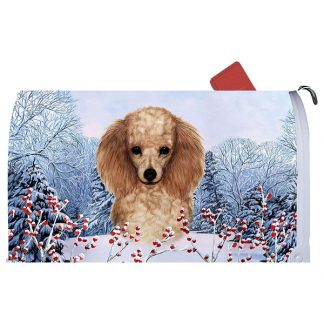 Apricot Poodle Mail Box Cover - Winter Berries