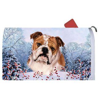 Bulldog Mail Box Cover - Winter Berries
