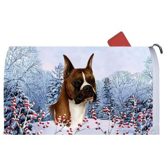 Boxer Mail Box Cover - Winter Berries