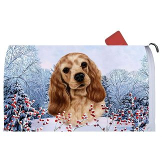 Cocker Spaniel Mail Box Cover - Winter Berries