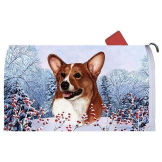 Corgi Mail Box Cover - Winter Berries