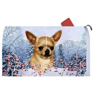 Chihuahua Mail Box Cover - Winter Berries