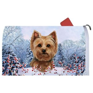 Yorkshire Terrier Mail Box Cover - Winter Berries