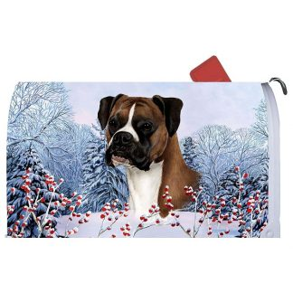 Boxer Mail Box Cover - Winter Berries (Uncropped)