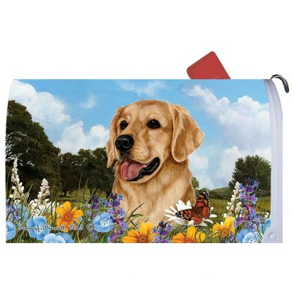 Golden Retriever Mail Box Cover