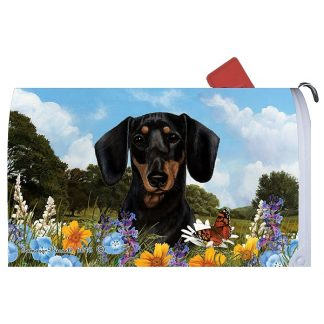 Dachshund Mail Box Cover (Black & Tan)