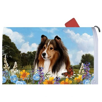 Shetland Sheepdog Mail Box Cover