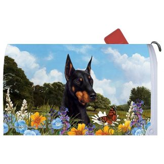 Doberman Pinscher Mail Box Cover