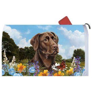 Chocolate Lab Mail Box Cover