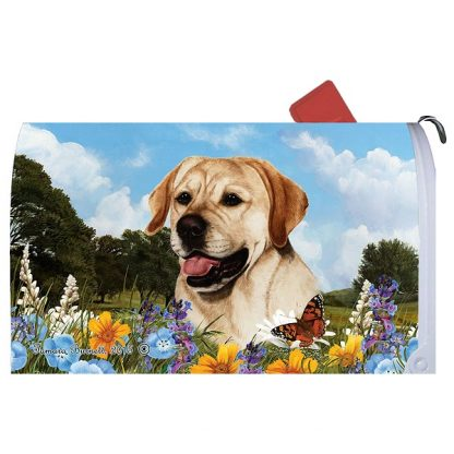 Yellow Lab Mail Box Cover