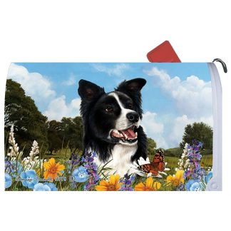 Border Collie Mail Box Cover