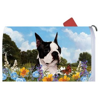 Boston Terrier Mail Box Cover