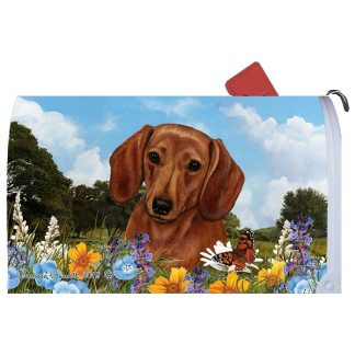 Dachshund Mail Box Cover (Red)