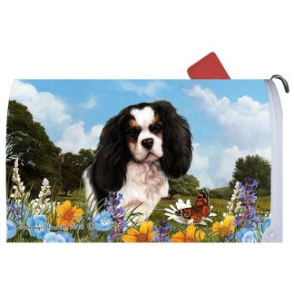 Tri Cavalier Spaniel Mail Box Cover