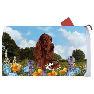 Irish Setter Mail Box Cover (Red)