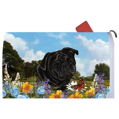 Pug Mail Box Cover (Black)