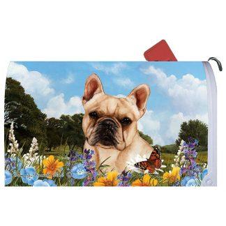 French Bulldog Mail Box Cover (Cream)
