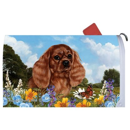 Ruby Cavalier Spaniel Mail Box Cover