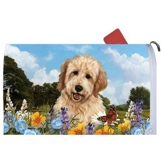 Goldendoodle Mail Box Cover (Blonde)